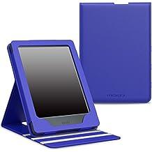 MoKo Funda para All-New Kindle 8th Generación - Superior Voltear Vertical Funda con Auto Sueño/Estela - Azul (No es Compatible con el kinlde Paperwhite)