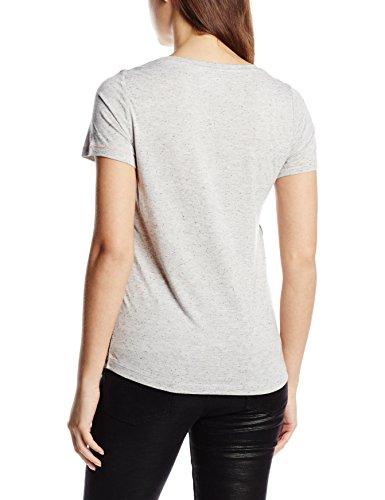 Vero Moda - Vmemilia Ss Top Dnm A, T-Shirt Donna Grigio (Light Grigio Melange)