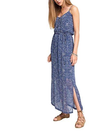 ESPRIT Damen Kleid 066EE1E006-mit Print, Mehrfarbig (Blue 430), 36
