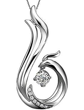 Mode Einfachen Elegant Silber Zirkonia Glänzenden Phoenix Form Frauen Kettenanhänger (Nur Anhänger)