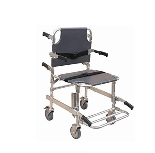Medizinischer Treppenstuhl, 4-Rad-Deluxer Evakuierungs-Stuhl, Krankenwagen-Transport-Faltender Treppenstuhl-Aufzug Mit Schnellverschluß-Schnallen, Belastbarkeit 400 Lbs