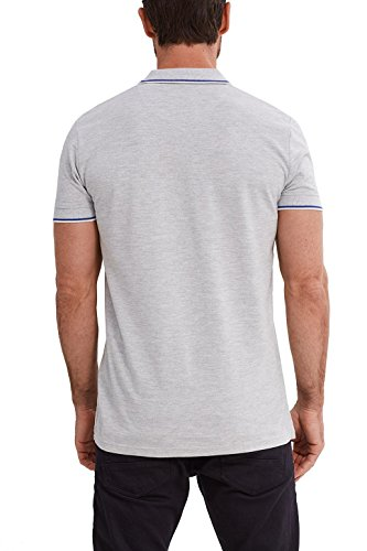 ESPRIT Collection Herren Poloshirt 047eo2k004 Grau (Light Grey 040)