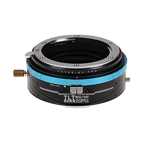 Fotodiox Pro Tlt Rokr Tilt/Shift Objektiv-Adapter für Nikon NIKKOR F Mount G-Type D/SLR Objektive auf Fujifilm Fuji X-Serie spiegelloses Kameragehäuse Tilt-adapter