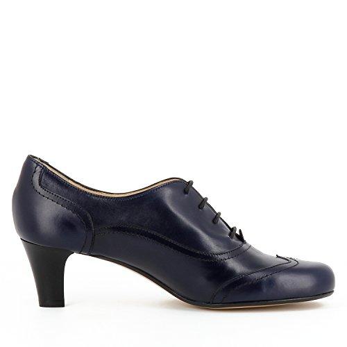 GIUSY escarpins femme cuir lisse bleu foncé