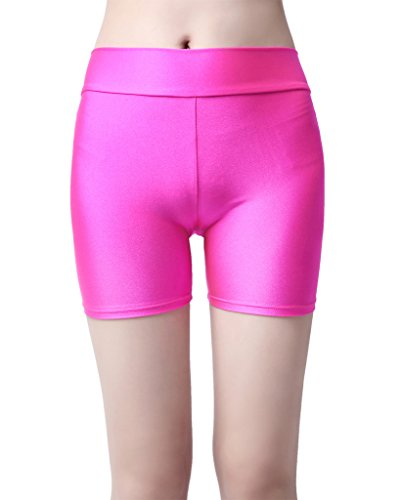 speerise Damen Lycra Yoga Dance Unitard Workout Hot Booty Shorts, Deeppurple (Womens Dance Booty Shorts)