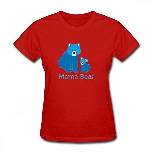 qingdaodeyangguo T Shirt For Women - Design Mama Bear Shirt red