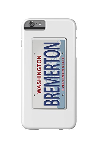Bremerton, Washington - License Plate (iPhone 6 Plus Cell Phone Case, Slim Barely There)