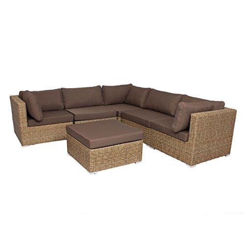Gartenlounge OUTLIV. Sahara Loungeset 6-teilig Geflecht sand Royal braun-beige 712801-841096