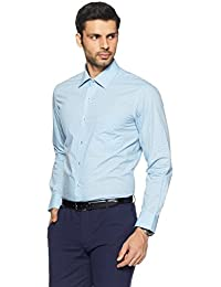 Arrow Men's Printed Regular Fit Cotton Formal Shirt