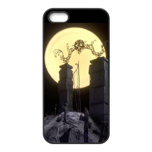 Nightmare Before Christmas 014 coque iPhone 4 4S Housse téléphone Noir de couverture de cas coque EOKXLKNBC20228