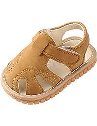 Moneycom - Zapatos romanos para recién nacidos con suela suave, antideslizantes, para exteriores, suaves, con cristales ligeros