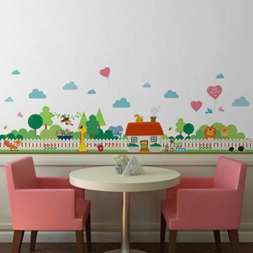VIOYO Lindo extraíble vinilo calcomanía arte mural cálido lindo dormitorio decoración del hogar PVC etiqueta de la pared para niños sala de estar