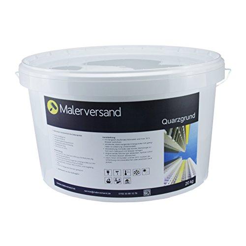 Malerversand Quarzgrund 20kg - Putzgrund - Voranstrich für Dekorputze - hervorragende Deckkraft - Quarzgrundierung