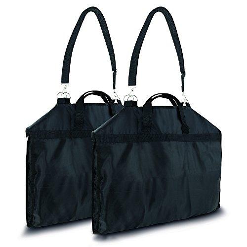 STIEG Anzugtasche/Kleidertasche 108 x 57 cm - Schultergurt & Tragegriffe & Staufach - Wasserdicht Atmungsaktiv Faltbar - Kleidersack Handgepäck Business Reisen (Anzugtasche/Kleidertasche Doppelpack)
