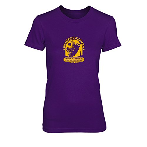 Bucking Bantha - Damen T-Shirt, Größe: XL, Farbe: lila (Bantha Kostüm)