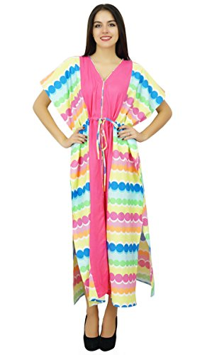 Bimba Womens lange Baumwolle Pannel Caftan Designer-Kollektion Beach Cover Kaftan Kleid -