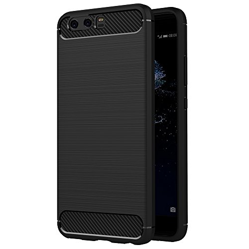 Cover Huawei P10 Plus, AICEK Nero Custodia Huawei P10 Plus (5.5 Pollici) Silicone Molle Black Cover per Huawei P10 Plus Soft TPU Case
