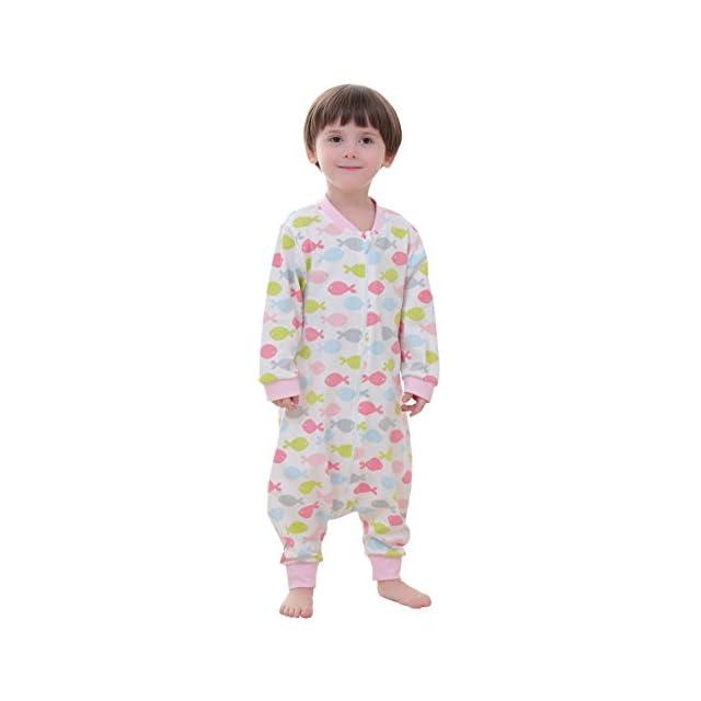394b3eef2df0c Happy Cherry Grenouillère avec Jambes Bébé Fille Garçon Pyjama Sac de  Couchage Bébé Respirant sans Capuche ...