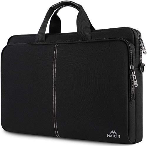 MATEIN Laptop Tasche 17,3 Zoll Umhängetaschen Herren Business Aktentasche große wasserdichtem Multi-funktionale Computer Tasche Schultertasche für Schule,Arbeit,Reisen,Frauen,Schwarz MEHRWEG