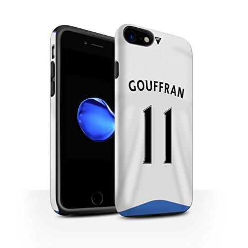 Offiziell Newcastle United FC Hülle / Matte Harten Stoßfest Case für Apple iPhone 7 / Taylor Muster / NUFC Trikot Home 15/16 Kollektion Gouffran