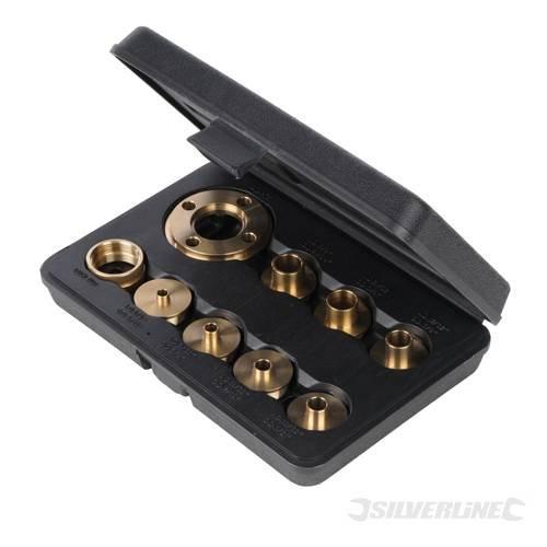 Power Tool Accessories Router Sets Guide Bush, 10 Stück, 5, 40.64 cm - 10.16 cm, 3 Stück, geeignet für die meisten Router, wenn ein universal Teller, Bush, Größen: 5, 40.64 cm, 3/20.32 cm, 7, 40.64 cm, 1/5.08 cm, 5/20.32 cm/51/64 (DE)/3/10.16 cm; inkl. Adapterplatte Kontermuttern und zwei gerändelt.