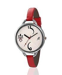 Yepme Kainoa Women's Watch - White/Red -- YPWWATCH1023