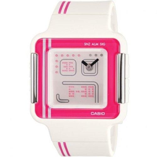 Casio - LCF-21-4DR - Montre Femme - Quartz Analogique - Digital - Alarme/Compte à rebours/Chronomètre/Temps universel - Bracelet Résine Blanc
