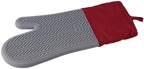 Dr. Oetker Silikon- Back und Ofenhandschuh Flexxibel, Topfhandschuh mit Innenleben aus Baumwolle, Kochhandschuh mit Anti-Rutsch-Grifffläche...