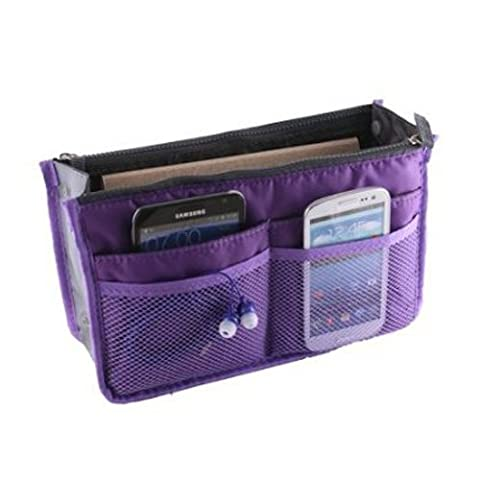 TOOGOO(R) Women Travel Makeup Insert Handbag Organiser Purse Large Liner Organizer Bag