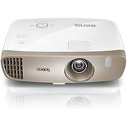 """BenQ W2000 Proyector para el hogar, 1080P Full HD Rec 709, instalación flexible, necesita poco espacio (100"""" a 2.5m), proyección de lado, cambio de lentes, corrección de deformación trapezoidal 2d, altavoces de 10W incorporados x2, silencioso con 27dB, HDMI x 3, MHL y kit inalámbrico opcional"""
