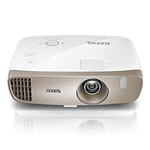 """W2000 de BenQ, Projecteur Rec 709 Full HD 1080P, Installation Modulable, Courte Portée (100"""" à 2,5 m), Projection Latérale, Décalage de l'Objectif, Correction de la Distorsion Trapézoïdale 2D, 2 Haut-parleurs 10 W Intégrés, Silencieux (27 dB), HDMI x 3, MHL et Pack sans Fil en Option"""