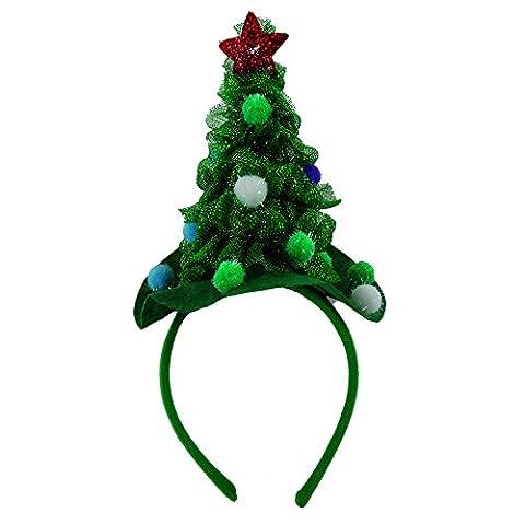 Haarreifen mit geschmücktem Tannenbaum - Weihnachtshaarreif