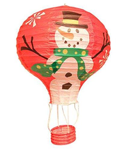 (Black Temptation Geburtstagsparty/Weihnachten/Ostern/Mall Dekoration hängen Papier Laterne Heißluftballon 30cm(Schneemann))