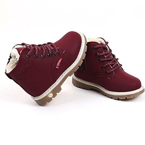V-SOL Niñas Zapatos de Nieve Calzado Antideslizante Talla 21 Longitud de Pies 13cm Negro sXpiCF