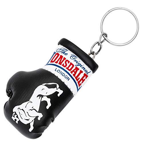 Lonsdale Mini Boxhandschuh Schlüsselanhänger, schwarz/rot
