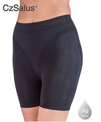 Pantaloncino corto anticellulite - guaina contenitiva snellente nero tg. l