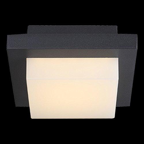 Globo Oskari Borne lumineuse d'extérieur carrée 1 LED