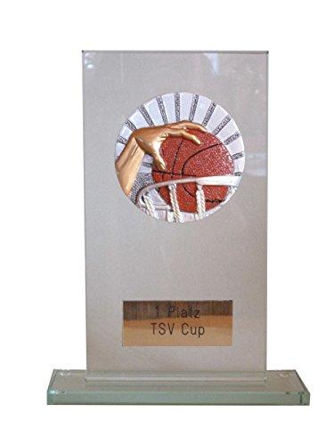 Glaspokal mit großem Resin-Emblem + 3 Anstecknadeln (Für Angeln, Badminton, Basketball, Billard, Boule/Petanque, Bowling, Dart, Eishockey, Fußball, Feuerwehr, GoKart, Golf, Poker/Skat, Reiten, Schach, Schwimmen, Tennis, Tischtennis und Volleyball verfügbar). (GoKart)