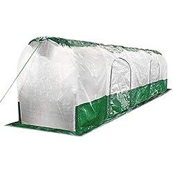 Bio Green SD300 Super Dome Tunnel de Protection Vert Transparent, Maron