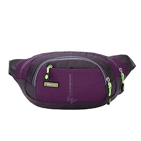 OverDose Outdoor Running Belt Bum Handy Waist Pouch Zip Messenger Bag