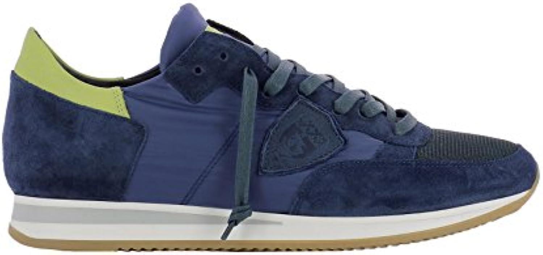 Philippe Model Herren TRLUW025 Blau Stoff Sneakers