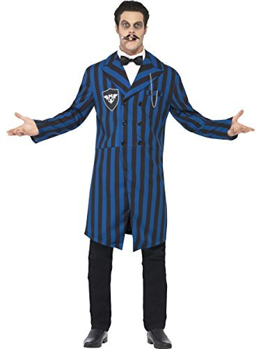 Herren dunkel Duke Gomez Halloween TV Film Adams Familie Kostüm Kleid Outfit - Blau, Large