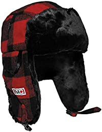 Fox Outdoor Holzfällermütze mit Fell, rot/schwarz