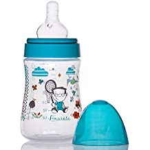 Little Bottle - Biberon 230 ml col large emballé en Pochon  - Univers Le Petit Monde de Zélie - collection Secret Garden modèle Anatole