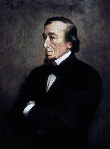 Forex-Platte 100 x 130 cm: Benjamin Disraeli, Detail von Sir John Everett Millais / Everett Collection