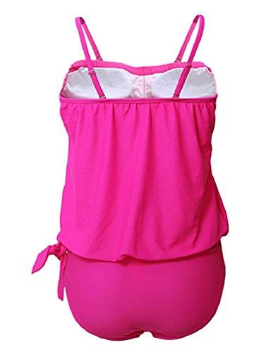Nicetage Costumi Da Bagno Donne Tankini Bikini Moda Due Pezzi Costume Rosa
