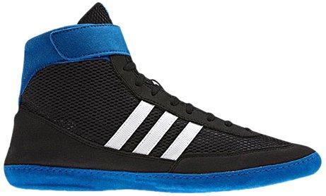 Adidas combattimento Velocità 4 Wrestling Scarpe gioventù Bahia Blu / calce Size 1.5, Black / Running White / Blue Beauty, 48