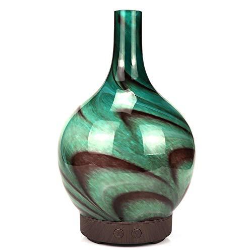 YC Diffuseur d'huile Essentielle, Vase en céramique d'humidificateur à ultrasons, Eau Ultra-silencieuse, Purification de l'air, diffuseur d'huiles essentielles d'aromathérapie, 100 ML, 7 Couleurs