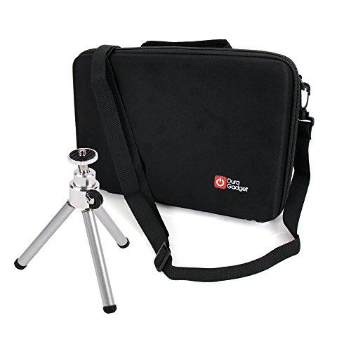 EVA-Case   Hartschalen-Koffer  Transport-Tasche mit anpassbarer Schaumstoffeinlage + Mini Stativ für Tascam DR-100MKIII   DR-22WL   DR-05 V2   DR-44WL und Zubehör Diktiergerät - von DuraGadget
