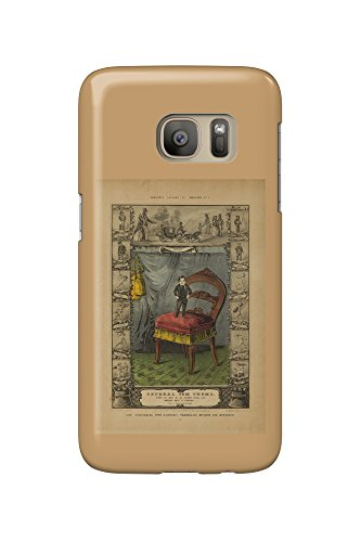 General Tom Thumb (Barnum's Gallery of Wonders plate) Vintage Poster USA c. 1849 (Galaxy S7 Cell Phone Case, Slim Barely There)